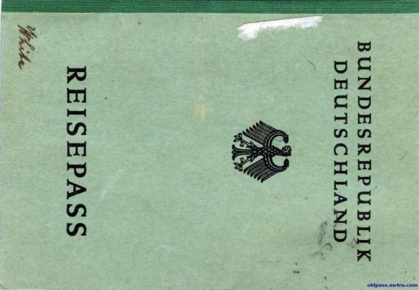 Паспорт ФРГ: 1951 год - обложка