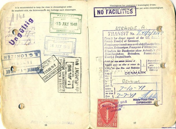 Паспорт Дании: 1945 год - страницы №№16-17