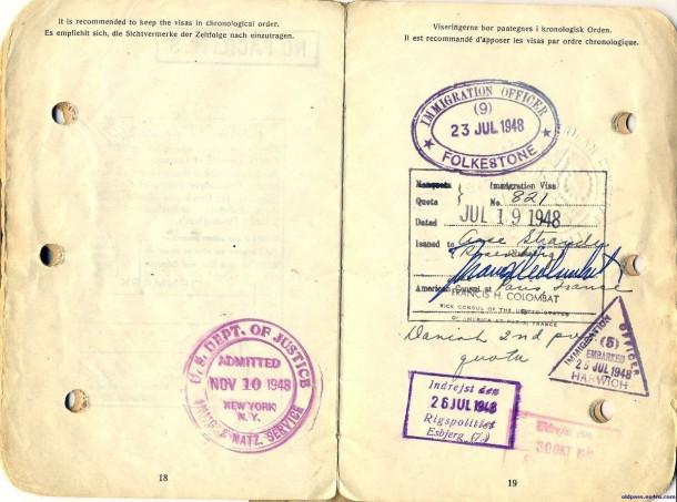 Паспорт Дании: 1945 год - страницы №№18-19