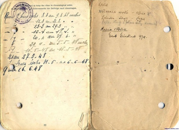 Паспорт Дании: 1945 год - последний разворот