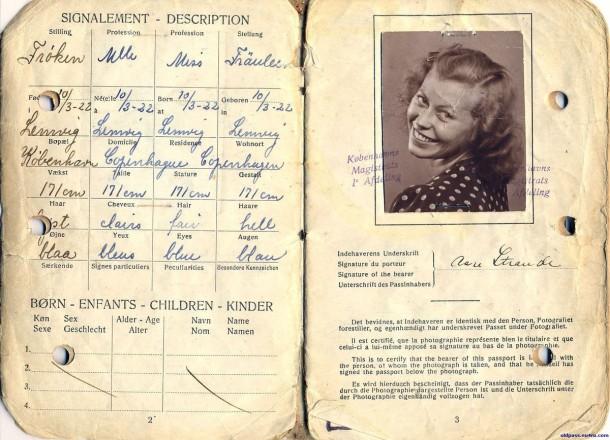 Паспорт Дании: 1945 год - страницы №№2-3