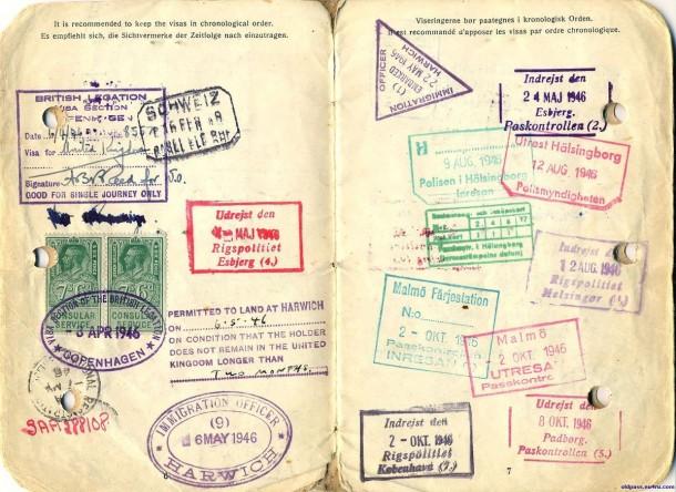 Паспорт Дании: 1945 год - страницы №№6-7