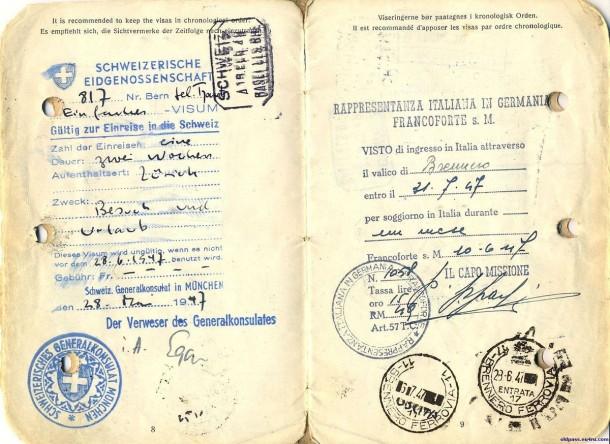 Паспорт Дании: 1945 год - страницы №№8-9