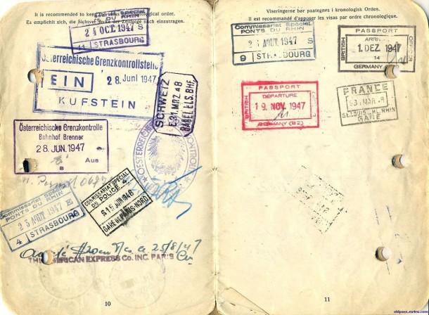 Паспорт Дании: 1945 год - страницы №№10-11