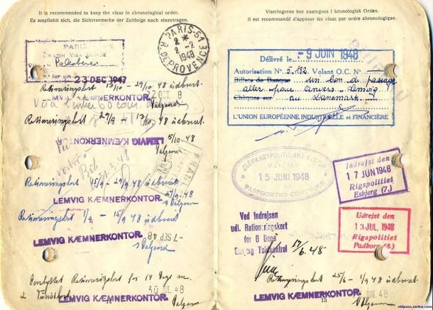 Паспорт Дании: 1945 год - страницы №№14-15