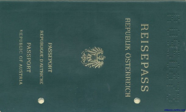 Паспорт Австрии: 1987 год - обложка