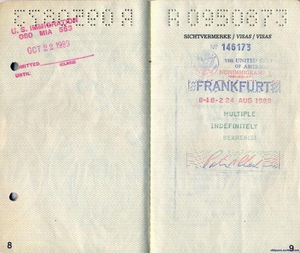 Паспорт Австрии: 1987 год - страница №№8-9